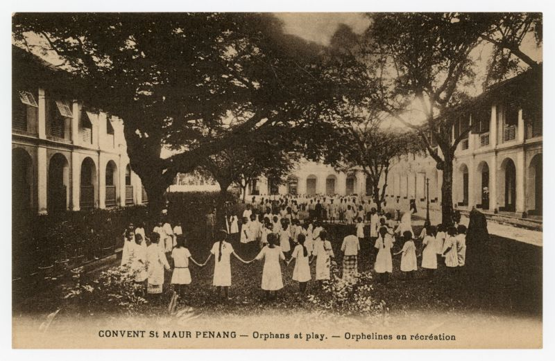 An old picture of orphans playing at Convent Light Street circa 1920s. ― Picture courtesy of Marcus Langdon