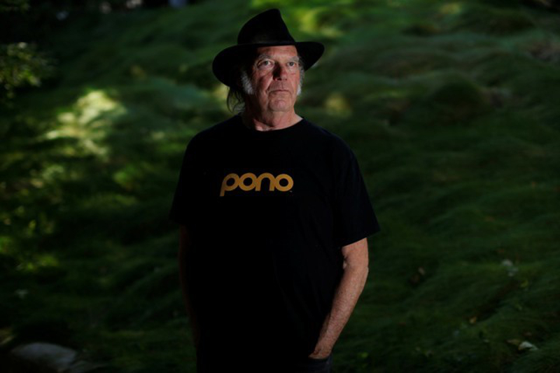 Neil Young has released a brand new 'politically loaded' album. — Reuters pic