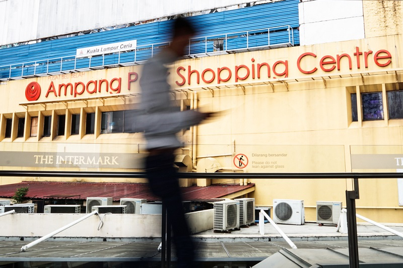 An exterior view of the Ampang Park shopping mall.