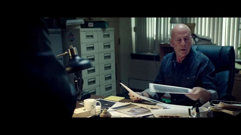 A screengrab from upcoming action film 'Acts of Violence' that stars Bruce Willis and Ashton Holmes.