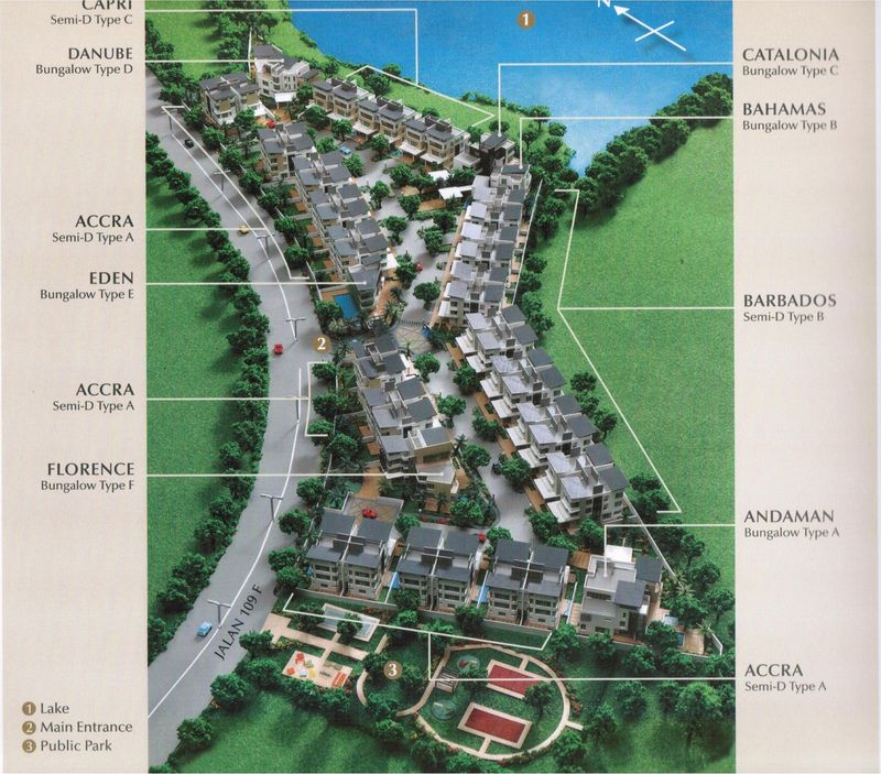 The brochure for Armada Villa — comprising of bungalows and semi-detached houses — lists item 3 on the adjoining land as a 'public park'.