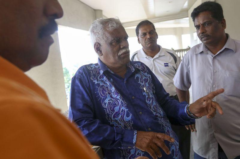 V. Sunderam, Chairman of the longhouse settler's association named Pertubuhan Penduduk Perumahan Awam Bukit Kiara.
