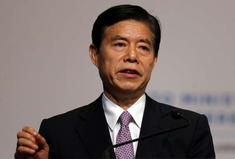 China's Commerce Minister Zhong Shan said the 'negotiation process was very difficult and taxing'. — Reuters pic
