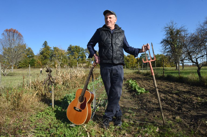 This file photo taken on November 14, 2017 shows US country musician Daniel Antopolsky posing for a photograph in Fargues-Saint-Hilaire, near Bordeaux where he settled down in the 90s. — AFP pic