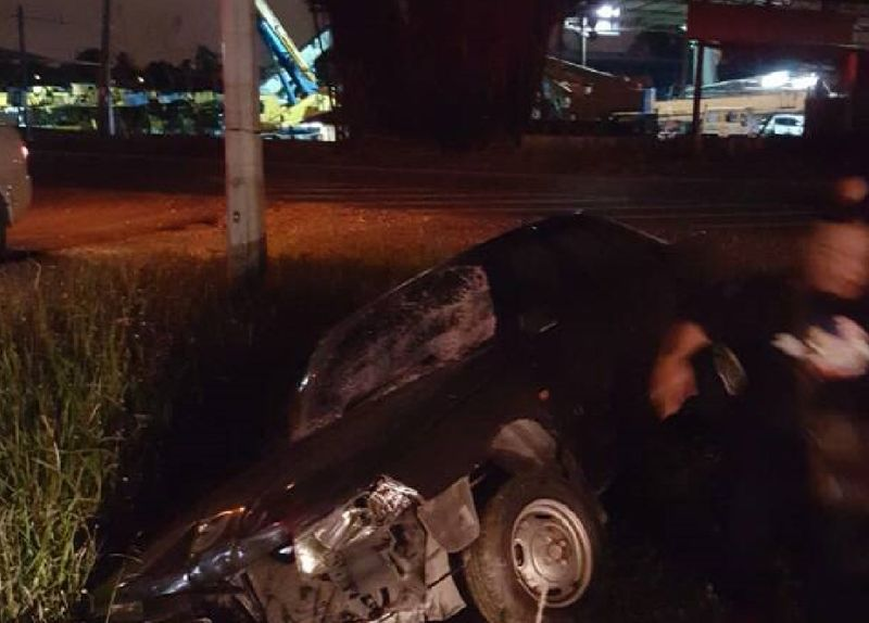 File picture shows the car that hit three marathon runners during the Klang City International Marathon 2017 in Klang on December 10, 2017. — Picture courtesy of Royal Malaysian Police