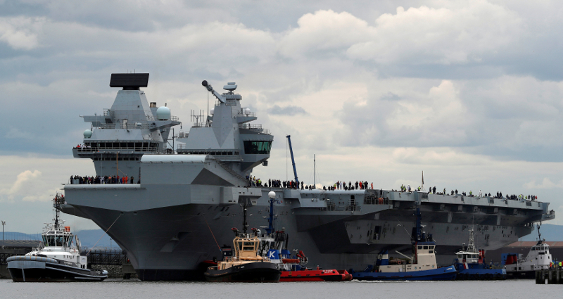 Britain plans to deploy two warships permanently after the arrival of the Queen Elizabeth aircraft carrier (pictured) arrives in Japan . — Reuters pic