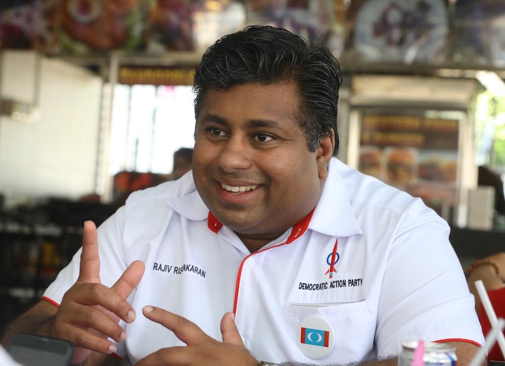 Bukit Gasing state assemblyman Rajiv Rishyakaran said his ethnicity kept many doors closed. — Picture by Zuraneeza Zulkifli