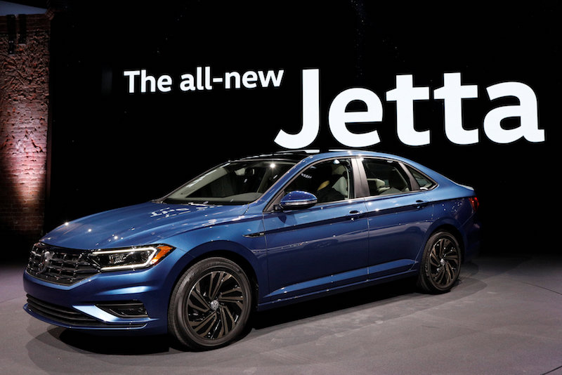 The 2019 Volkswagen Jetta is unveiled during a launch event at the North American International Auto Show in Detroit January 14, 2018. — Reuters pic
