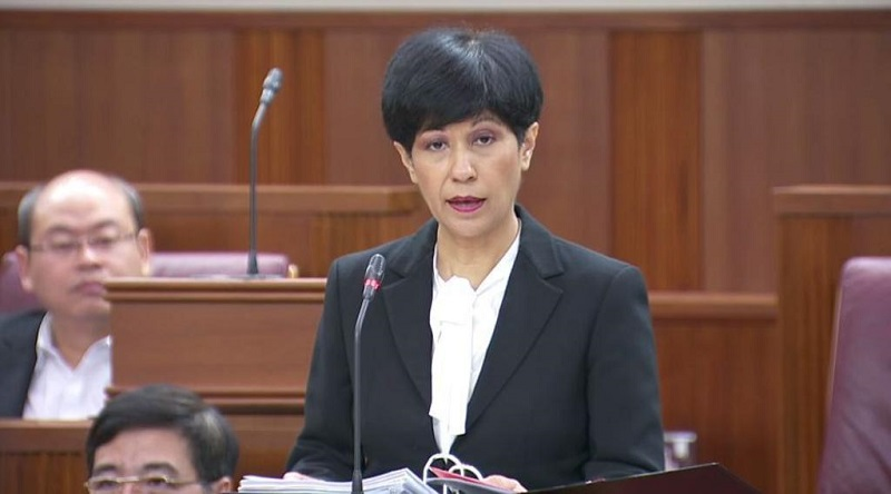 Singapore's senior minister of state for finance and law Indranee Rajah. — TODAY pic