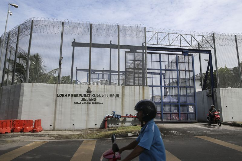 The CMU will first be implemented at the Jinjang, Kuala Lumpur centralised lockup before it is extended to other lockups. — Picture by Suhakam