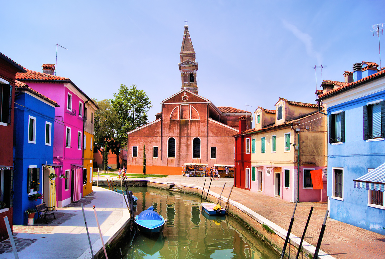 Visitors who stroll away from the main streets in Burano will discover a tranquil world of canals and fishing boats.— AFP pic
