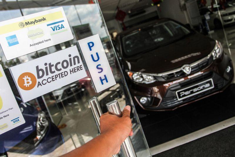 Bitcoin and cryptocurrency are accepted at Anjur Kayangan Auto Sdn Bhd, a car sealer in Seri Kembangan Jaunary 7, 2018. ― Picture by Shafwan Zaidon