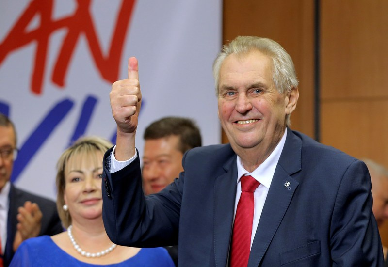 Czech President Milos Zeman has remained silent over allegations of Russian involvement in an explosion on Czech soil. — Reuters pic