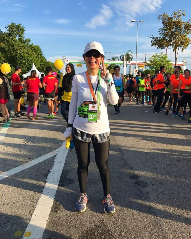 Ultra runner Evelyn Ang is seen here at the Twincity Marathon 2017. Ang was knocked down in a hit-and-run on December 10, 2017 during the Klang City International Marathon and suffered a fractured skull and brain haemorrhage. ― Picture courtesy of Ana Fauzi