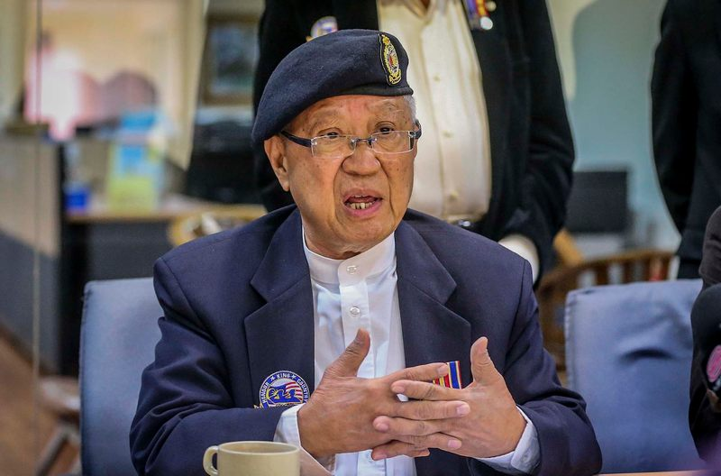 Macva president Major Tan Pau Son during Malaysian Armed Forces Chinese Veterans Association press conference at  The Boulevard Mid Valley City January 15, 2018. — Picture by Firdaus Latif