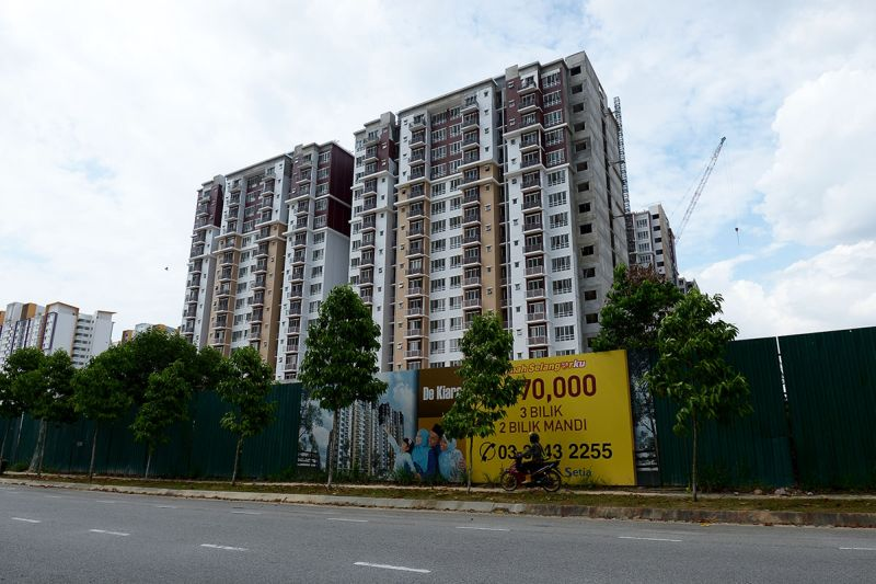 File picture of a Rumah Selangorku project in Setia Alam. ― Picture by Miera Zulyana