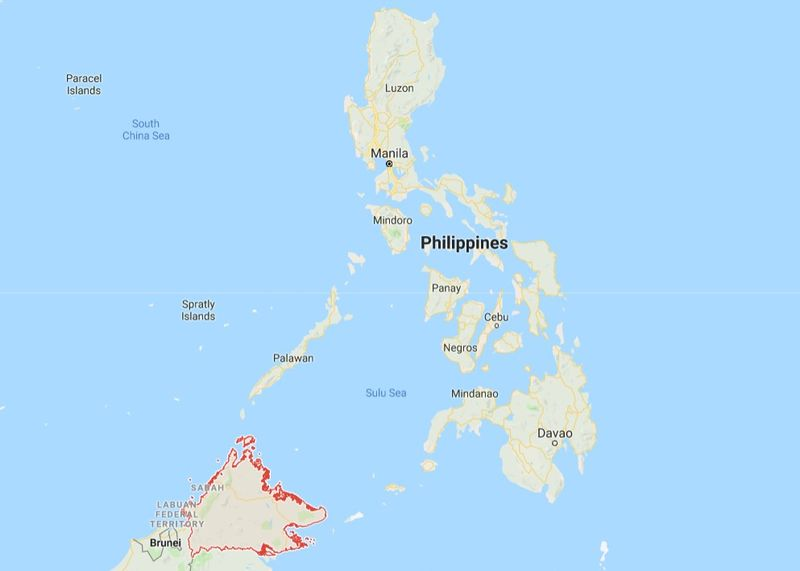 A former Filipino senate president proposed to make Sabah the 13th federal state of the Philippines, as part of proposed amendments to the Philippines federal constitution. — Picture courtesy of Google Maps