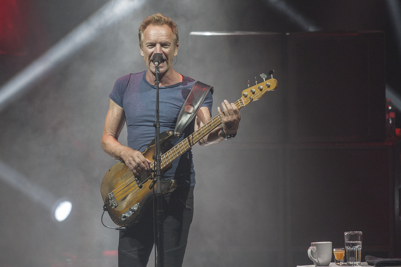 British singer Sting performs onstage in this file picture. — AFP pic