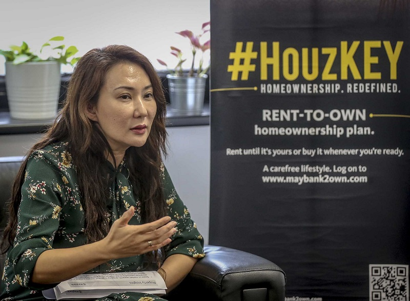 Lye said Maybank's HouzKEY is a flexible scheme that allows Malaysians to be homeowners without paying an initial down payment.