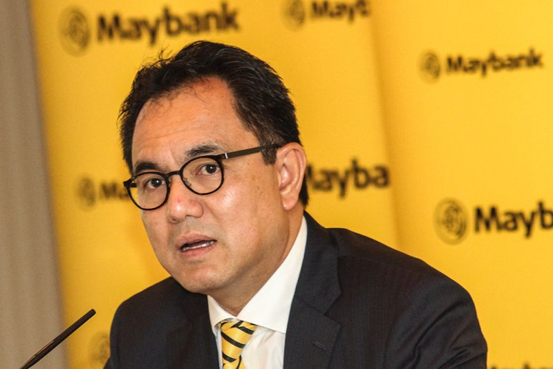 President and CEO of Maybank Group Datuk Abdul Farid Alias speaks at a press conference in Kuala Lumpur February 28, 2018. — Picture by Miera Zulyana