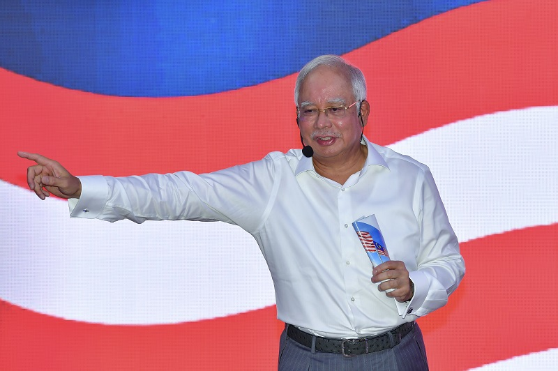Prime Minister Datuk Seri Najib Razak speaks during a forum addressing the effects of the 2018 Budget in Kuala Lumpur February 22, 2018.  — Bernama pic