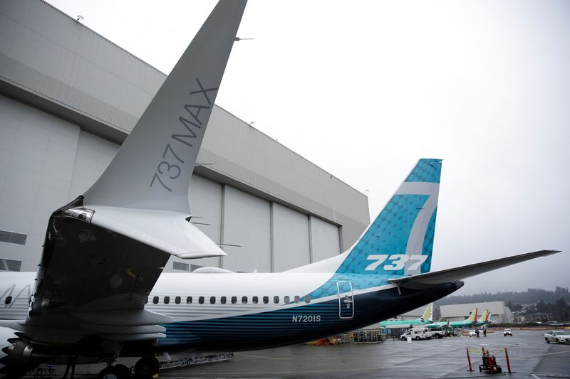The first Boeing 737 MAX 7 is unveiled in Renton, Washington February 5, 2018. — Reuters pic