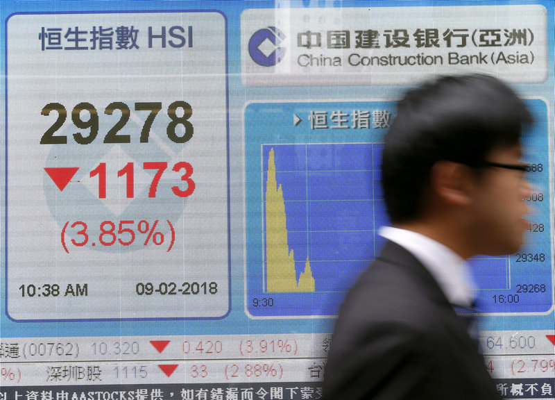 The Hang Seng Index eased 0.13 per cent. — Reuters pic
