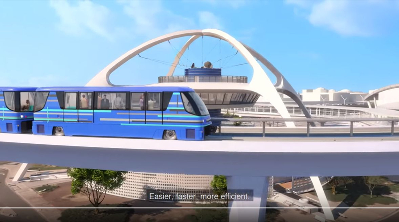 Automated people mover at LAX — YouTube/LAX airport image