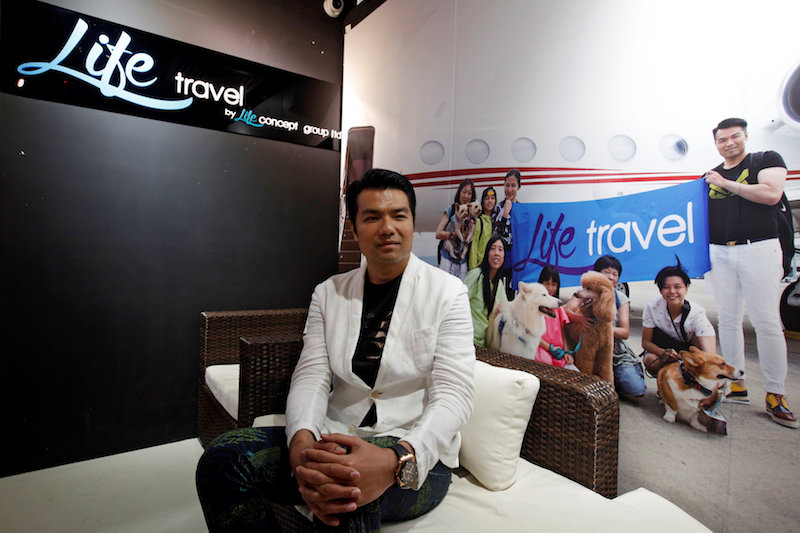 Life Travel Business Development Director Raymond Chung poses in his office in Hong Kong March 5, 2018. — Reuters pic