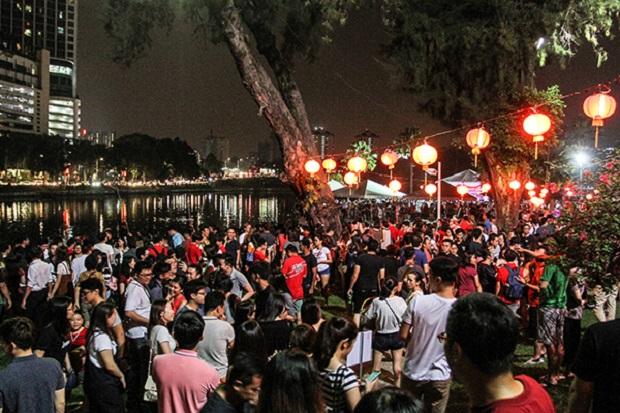 The crowd at MBPJ's Chap Goh Meh's celebration in Petaling Jaya, March 2, 2018.
