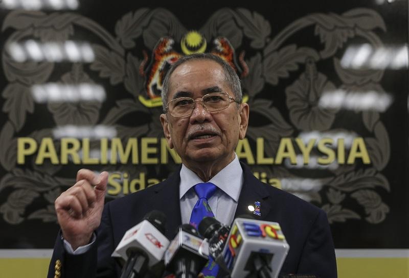 Datuk Seri Wan Junaidi Tuanku Jaafar said some 2,605 hectares of coastal land have been planted with 6.3 million mangrove trees since 2005. — Picture by Azneal Ishak