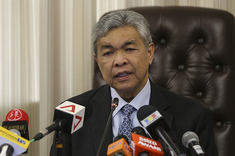 Ahmad Zahid had earlier said he was open to reviewing the PPPA after the general election. — Picture by Azneal Ishak