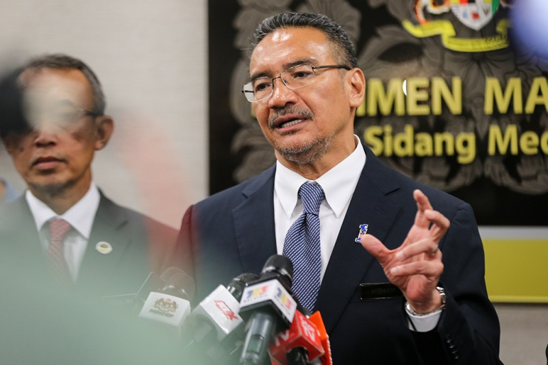 Defence Minister Datuk Seri Hishammuddin Hussein speaks during a press conference at the Parliament building  in Kuala Lumpur 8 March,2018. — Picture by Ahmad Zamzahuri