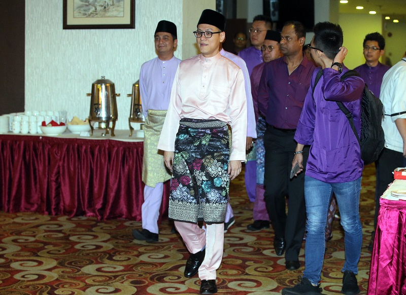 Penang DAP vice-chairman and Bukit Bendera MP Zairil Khir Johari  (centre) and fellow DAP member Dyana Sofya Mohd Daud are expected to tie the knot by the end of the year. — Picture by Farhan Najib