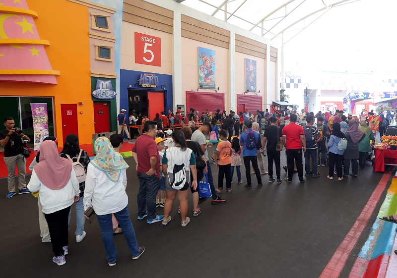 File picture shows the visitors at the Movie Animation Park Studios (MAPS). — Picture by Farhan Najib