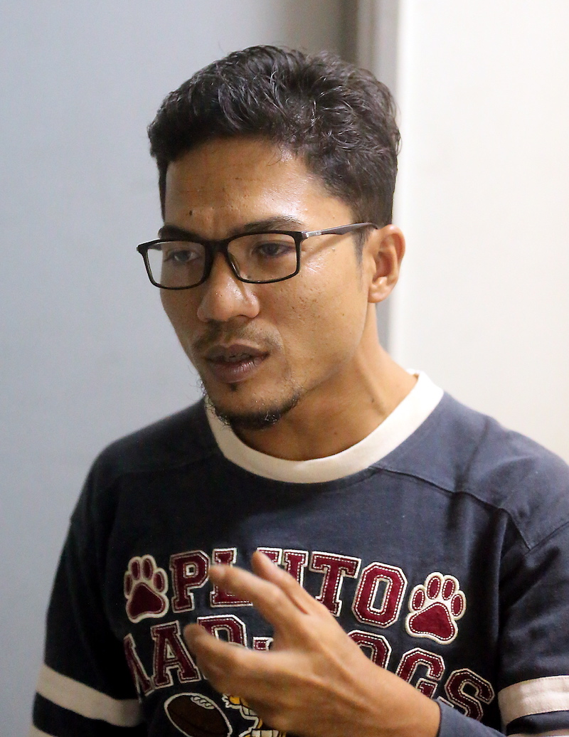 Muhamad Azhar wants free education for all.  — Picture by Farhan Najib