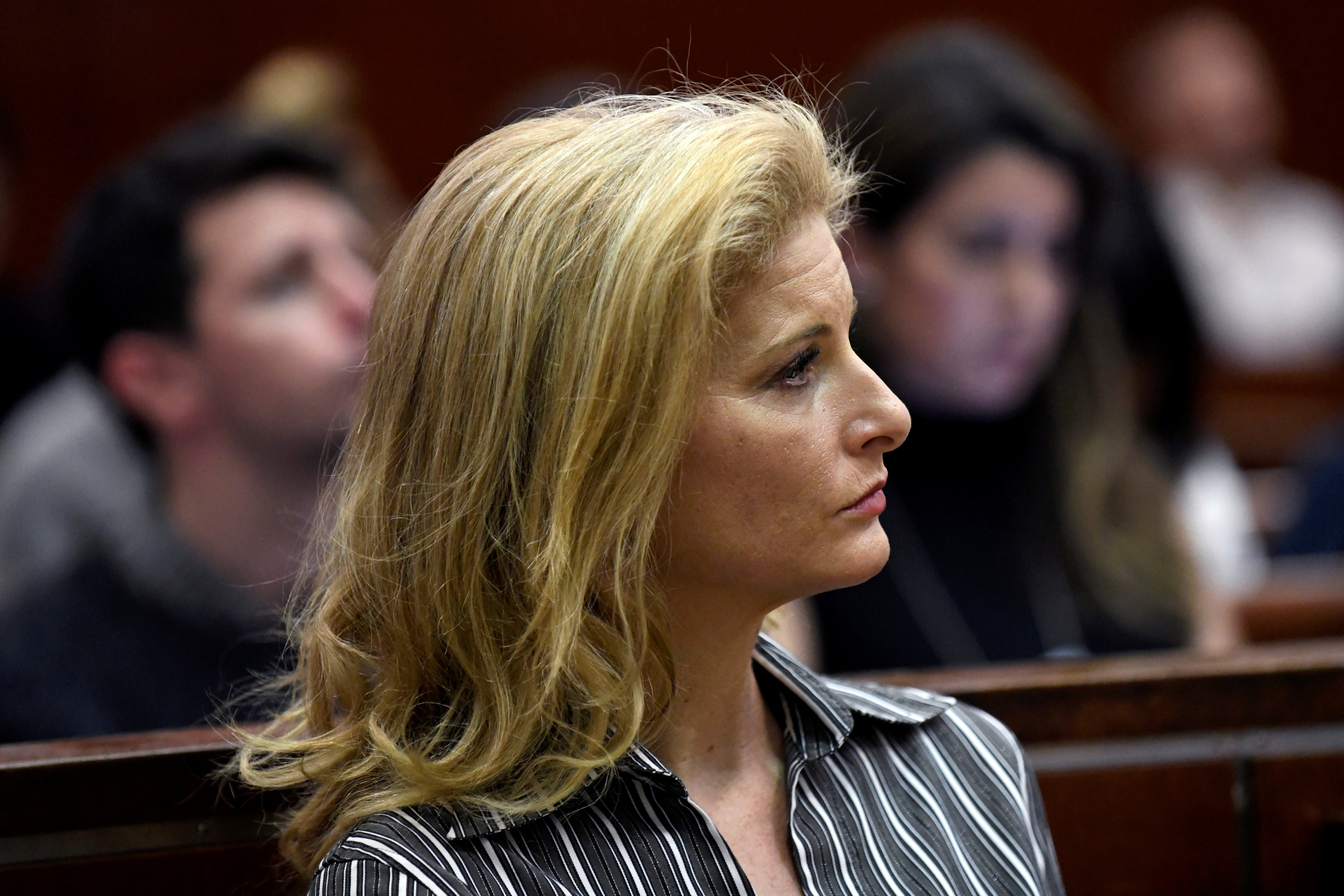 Summer Zervos, a former contestant on 'The Apprentice', appears in New York State Supreme Court during a hearing on a defamation case against US President Donald Trump in Manhattan, New York, December 5, 2017.  — Reuters pic