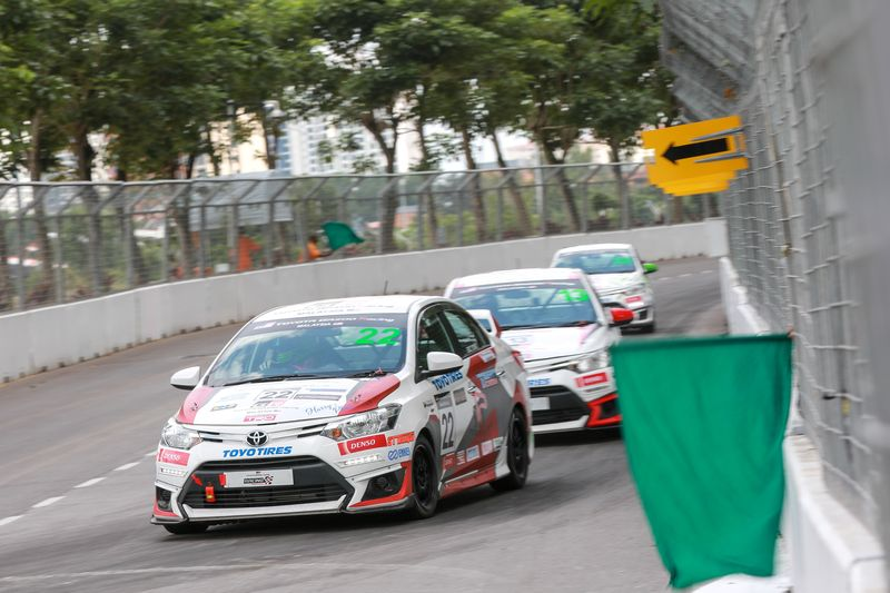 Vios Racing cars at the Technology Park Malaysia track, March 24, 2018. — Pix courtesy of UMW Toyota Motors