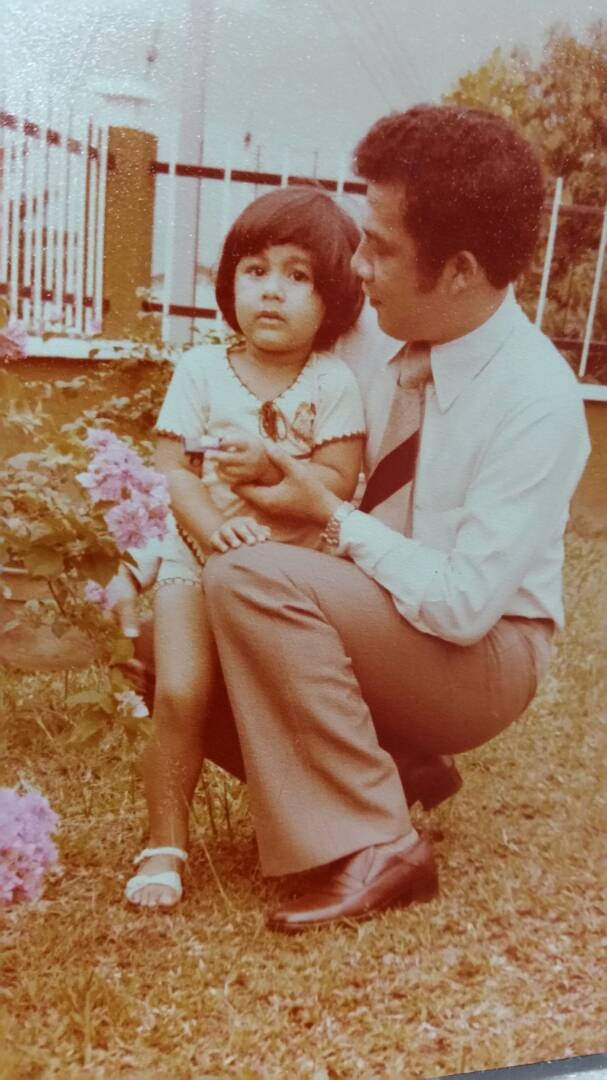 The writer as a child with his uncle Mohd Raus Borhan. — Picture courtesy of Farouk A. Peru