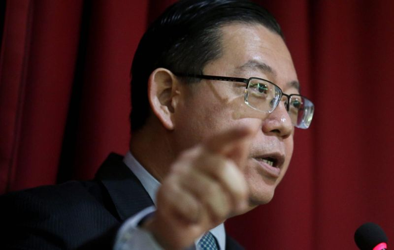 Penang Chief Minister Lim Guan Eng asserted that some of the electoral constituencies in Penang were disproportionate in size and needed correcting, but which the EC had ignored. ― Picture by Sayuti Zainudin