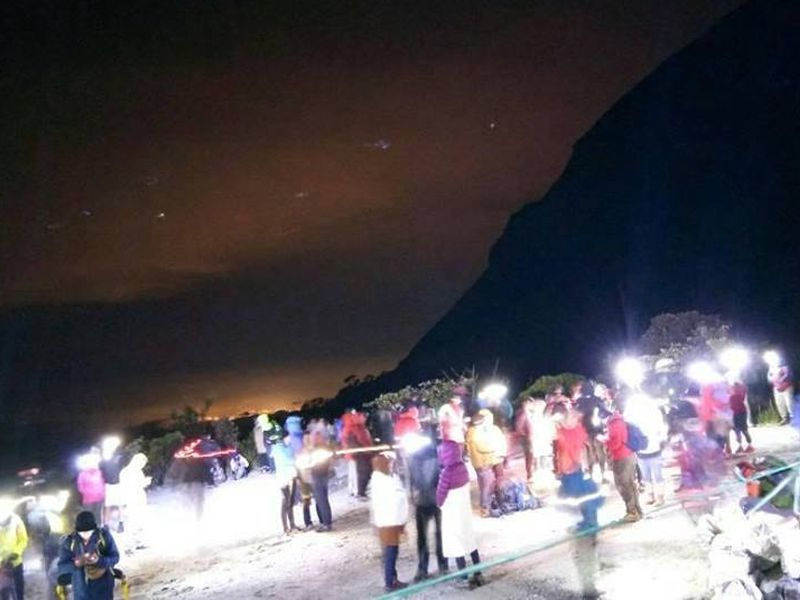 Authorities evacuated 239 people from Mount Kinabalu's Panalaban plateau, including 130 climbers. — Picture via Facebook