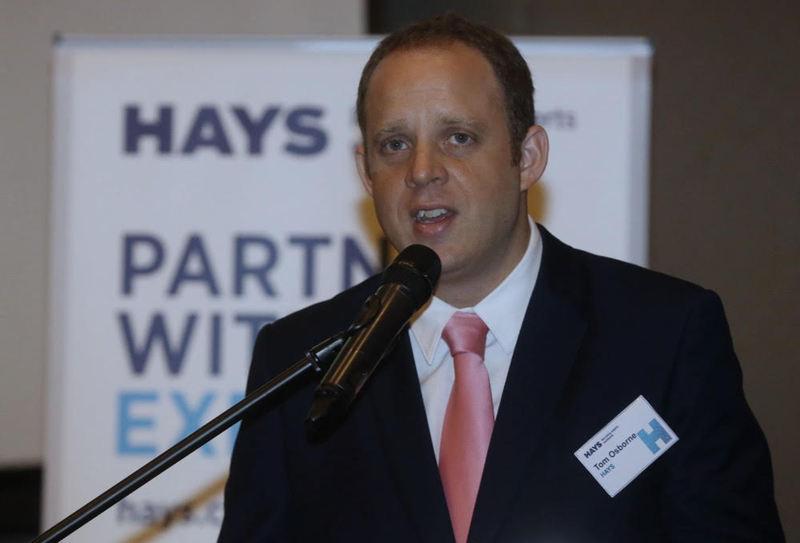 Tom Osborne, regional director of Hays, speaking on Asia's Talent Market at The Intermark in Kuala Lumpur March 1, 2018. — Picture by Zuraneeza  Zulkifli