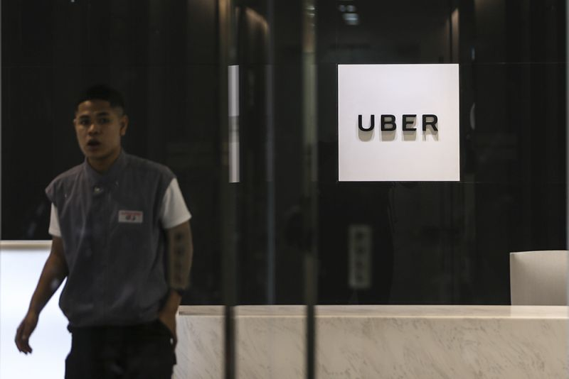 A man is seen at Uber's Bangsar South office March 27, 2018. ― Picture by Azneal Ishak