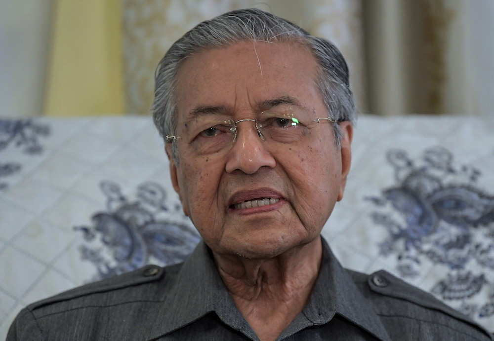 Dr M made the announcement via a video published on Parti Pribumi Bersatu Malaysia's (PPBM) Facebook page. — Bernama pic