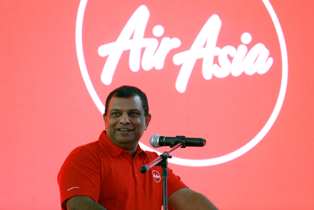AirAsia Group CEO Tony Fernandes speaks during a news conference at the AirAsia headquarters in Sepang in this file picture taken on December 13, 2017. — Reuters pic