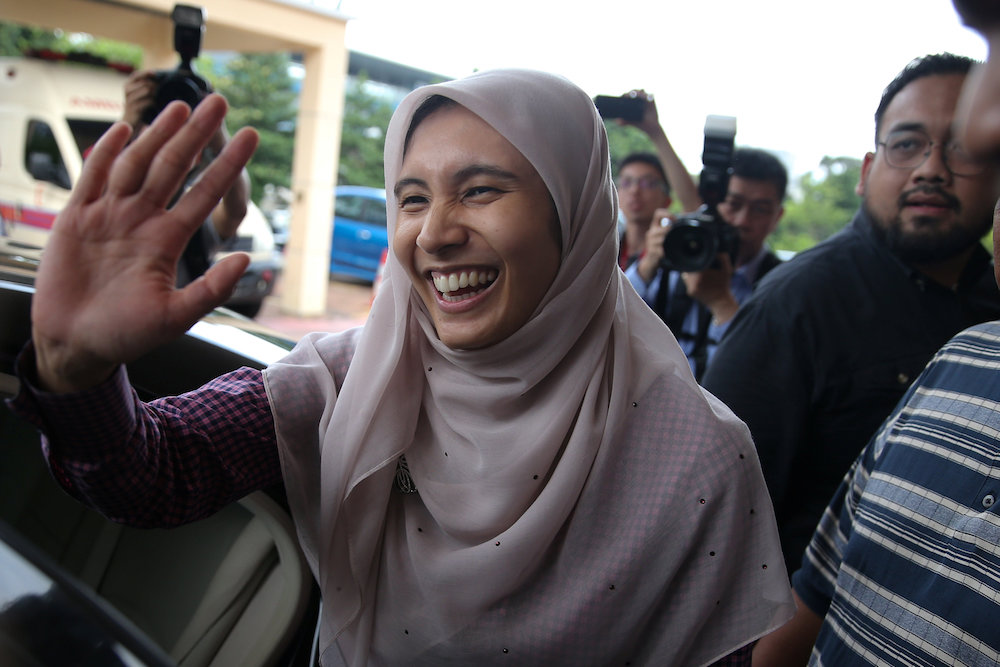 The purported romance gathered steam after Nurul Izzah and her family received a royal invitation from the Agong to visit him in Kelantan last week, and flew there on a private jet. — Reuters pic