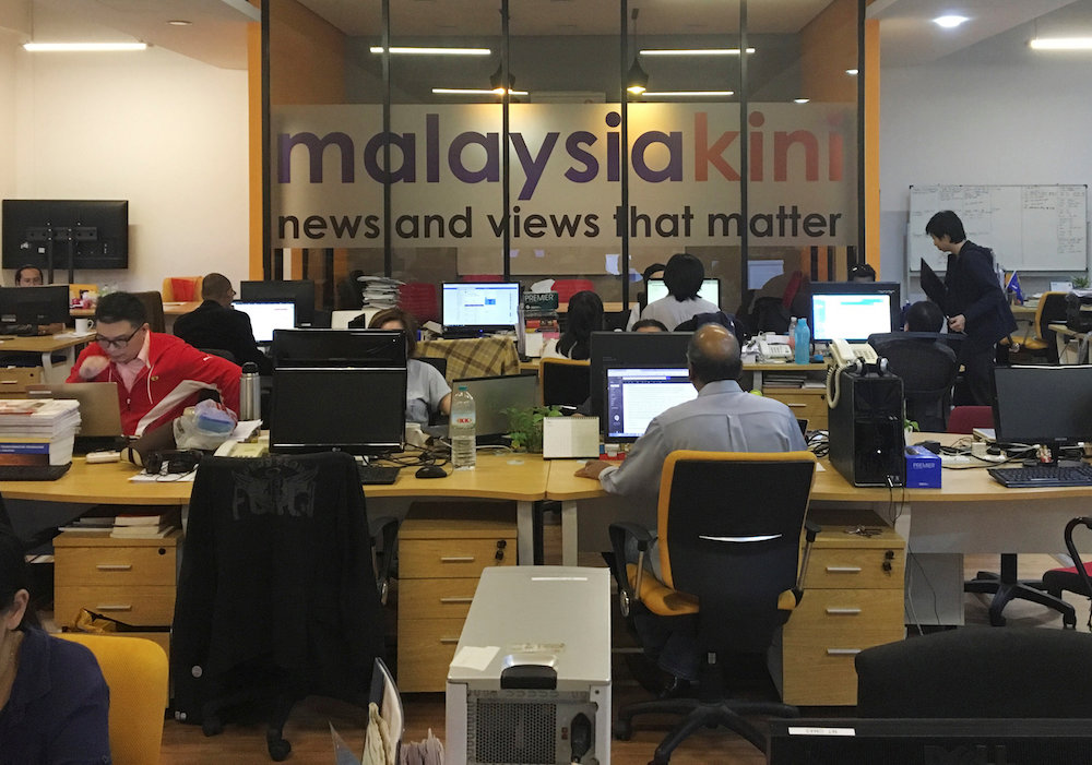 A general view of Malaysiakini's newsroom in Kuala Lumpur May 24, 2018. — Reuters pic