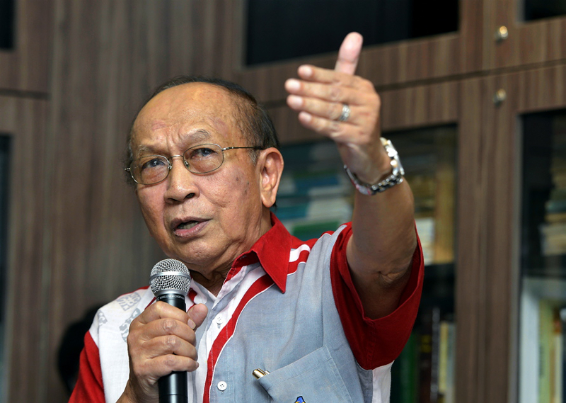 Tan Sri Rais Yatim said the best way forward to ensure lawmakers are present in the Dewan Rakyat is to publicly list down those who skipped proceedings. — Picture by Ham Abu Bakar