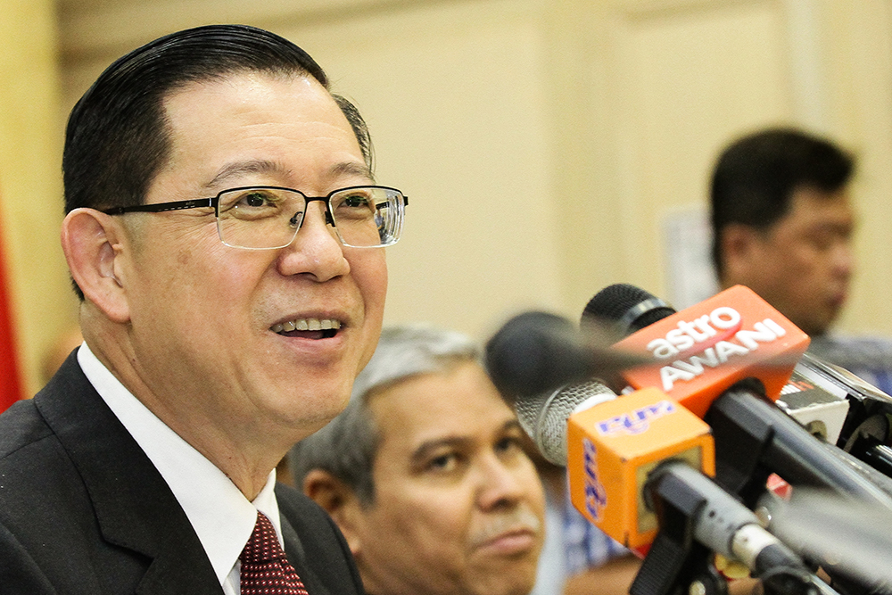 Minister of Finance Lim Guan Eng announced today a 100 per cent exemption in stamp duty payment for first-time house buyers. — Picture by Miera Zulyana