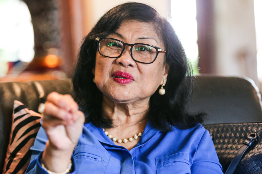 Rafidah also responded to Najib's remarks about her invoking Allah's name when making the allegation. — Picture by Ahmad Zamzahuri